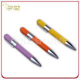 Promotion bon marché en caoutchouc personnalisé stylo à bille de métal