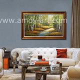 ホーム装飾のためのキャンバスのアスペンの木の油絵