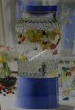 6L Glass Jar para Beverage com Metal Stand