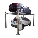 Deux à quatre montants hydraulique de plancher des places de parking pour deux voitures du système de relevage