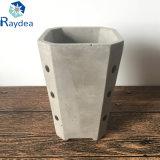 Recuadro de color negro mini bote de cemento de la suculenta