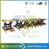 De houten Lijst van de Lift van de Schaar van het Gebruik van de Fabriek Stationaire Hydraulische met Rol