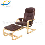 Presidenza di qualità superiore di svago della mobilia di legno di betulla con il poggiapiedi