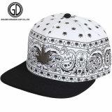 Ajuste personalizado Snapback Negro Hat gorro con patrón bordado
