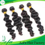 7Aインドのニースの波状毛100%の人間のバージンの毛のよこ糸