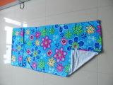 21綿の切口のビロードの実行中の印刷のビーチタオル、印刷タオル、ビーチタオル