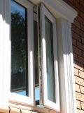 Janela de PVC com janela de dupla janela com design de grelha