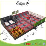 Anúncio publicitário ginástico interno do parque do Trampoline do preço do competidor para o parque temático