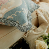 Coxim decorativo do sofá do descanso da borda luxuosa do Tassel do jacquard