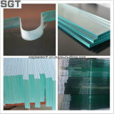 6-12mm Normal Clear Toughened Knell Customized for Projects Building