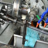 Fazenda de plástico de PVC tubo tubo de aço na máquina de fazer o extrusor
