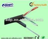 Gato de la red del Uno mismo-Surport 2p. cable 5e con el alambre de acero del mensajero