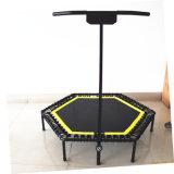 Interiores comerciales plegable Mini trampolín de saltos con T-Bar