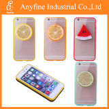 3D Lemon Watermelon Fruit 결정 명확한 Plastic TPU Back Hard Case Cover