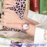 Relógio de luxo de liga de alta qualidade, faixa de couro genuíno (HLJA-15061)