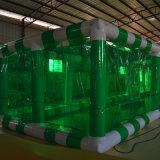 Tienda inflable verde del partido
