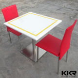 Kingkonree White Solid Surface 4 Seaters Mesa de jantar