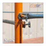 Cadre d'échafaudage sur le fil de la broche de verrouillage de sécurité rabattable