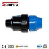 Pn10 Material PP Válvula de bola para el riego