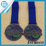 Изготовленный на заказ оптовая продажа резвится медаль металла конкуренции марафона идущее