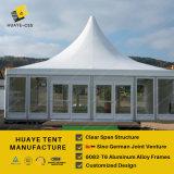 Großes Pagode-Zelt 10X10m mit Glaswand