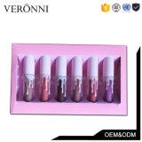 최신 판매 메이크업 Ky 6 색깔 광택이 없는 방수 Lipgloss 고정되는 분홍색 포장