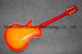 Duplo Superior Ácer acolchoados F buracos Lp Laranja guitarra eléctrica (BPL-541)