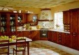 Module de cuisine de luxe de cerise en bois plein de modèle européen