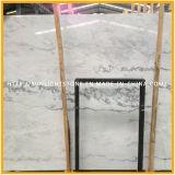 Mattonelle di pavimentazione di pietra di marmo bianche a buon mercato Polished naturali della Cina
