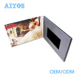 De klant ontwierp Brochure van de Kaart van 4.3 Duim TFT LCD de Video met A4 A5 Grootte