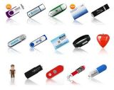 Memória Flash Disk Stick Pen Drive do USB da Tela-Touch com Brading Logo