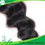 100%の人間の毛髪ブラジルボディ波の組みひもの毛
