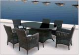 [رتّن] خارجيّ وقت فراغ طاولة مع كرسي تثبيت