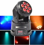 Более дешевое Mini 7*10W RGBW 4 в 1 диско Party СИД Wash Moving Head Light DJ