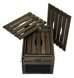 Linds를 가진 Jem 녹색 시골풍 나무 상자 - 3의 밤 브라운 세트