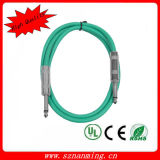 5m 6.35mm mono cable de la guitarra del enchufe