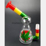 Bunter Blatt-Fertigkeit-Vogel-Glaswasser-Rohr des Gefäß-Filters