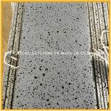 Tuiles de basalte noir et naturel Hainan pour plancher et mur