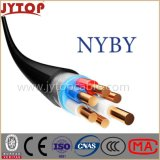 Yvz4V/Nyby Kabel, 0.6/1 Kv de pvc GeïsoleerdeC Dubbele Kabels van de Band van het Staal Gepantserde, Multi-Core met de Leider van het Koper