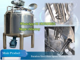 Acero inoxidable de alto cizallamiento de depósito de emulsionamiento de champú