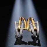 卸し売りアクセサリーは最も遅く女性のための白い金のイヤリングを設計する