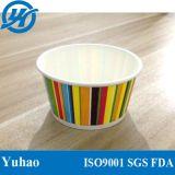 Multicolor papel de buena calidad tazas de helado