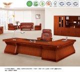 Chapa de madera de teca moderna forma de L Oficina Ejecutiva de recepción (HY-D5124)
