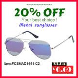 Óculos de sol superiores recentemente revestidos do metal da qualidade