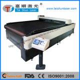 Máquina de corte de tecido de laser de CO2 com balcão para têxteis domesticos