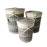 Armazenamento de tecidos de madeira Circular altos lavandaria cabaz da Cesta