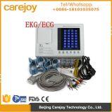 Cer zugelassene ECG Maschine/Kanal des Monitorelectrocardiograph-3 7 Zoll