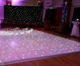 Blanc 2ftx2FT Dance Floor illuminé par les étoiles pour la décoration de mariage