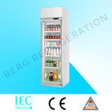 Refrigerador comercial da porta dobro para o alimento e as bebidas
