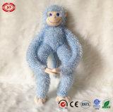 Jouet mou arrogant bleu se reposant de singe de la qualité En71 de peluche